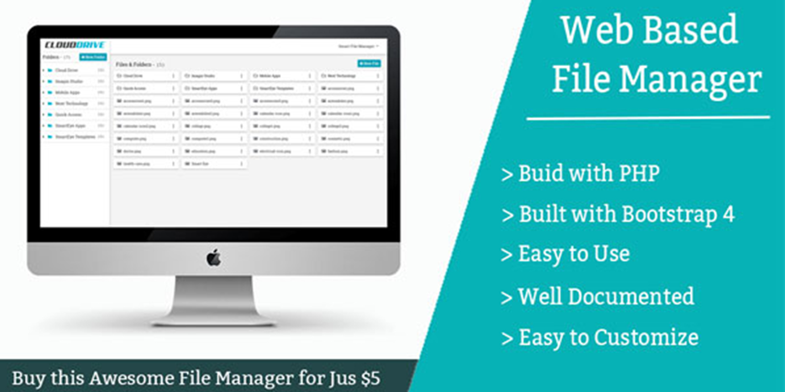 Smart File - Web Based File Manager PHP Script v.1.0