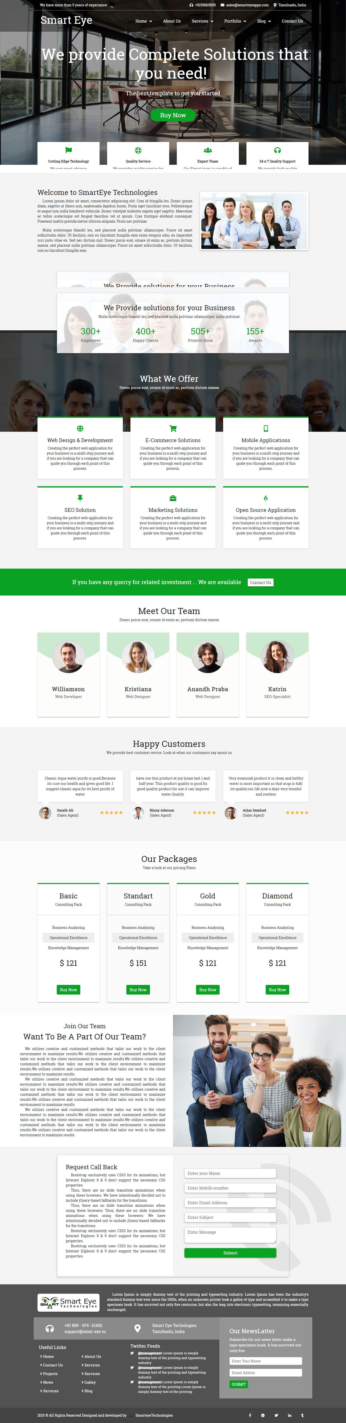 Smart Eye HTML Business website template home page 3