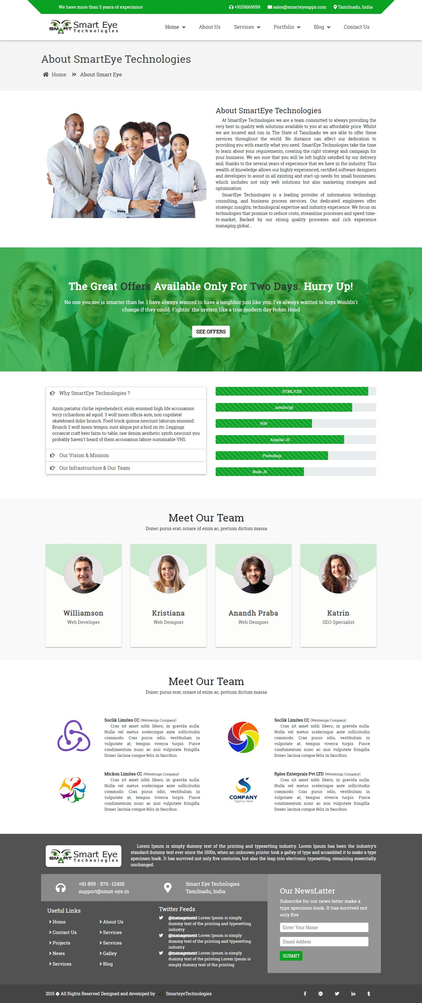 Smart Eye HTML Business website template about us